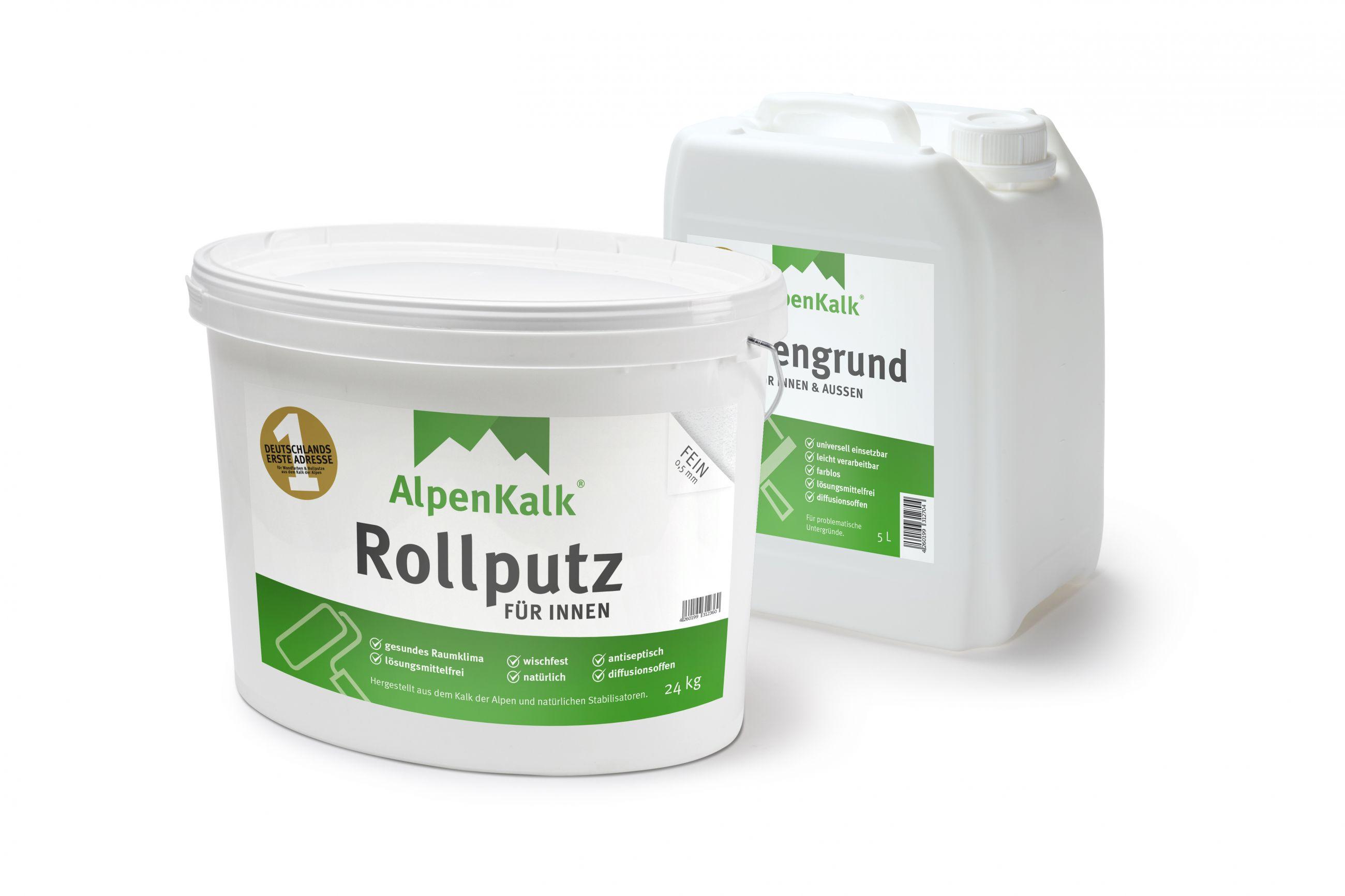 Extrem Rollputz auftragen: AlpenKalk Streichputz einfach verarbeiten JH79