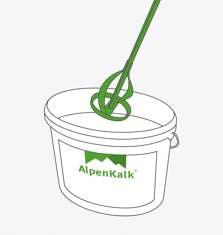 Verarbeitung Fassadenfarbe Alpenkalk Kalkfarbe Fur Aussen